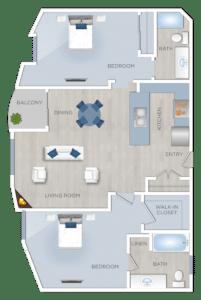 two bedroom Apartments-in-Sherman-Oaks-CA